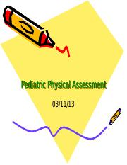 Pediatric Physical Assessment.ppt