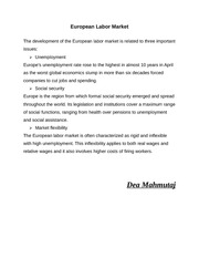 European Labour Market (abstract)