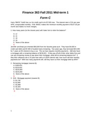 Mid-term 1 Fall 2012 Form C Solutions