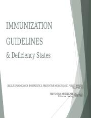 Immunization Guidelines SV