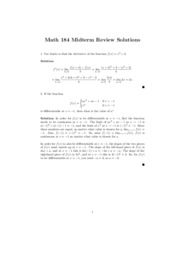 ubc math 184 midterm 1 review solutions