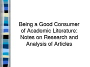 Literature Research and Analysis