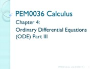 14216_Chapter 4 Part 3 - Ordinary Differential Equation