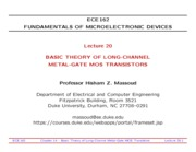 ECE162-Lecture-20-Long-Channel-MOS-Transistors