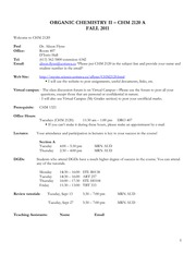 CHM 2120 Syllabus Fall 2011