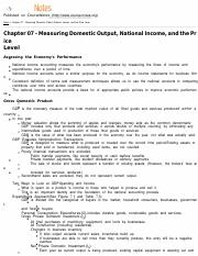 MACROECON Chapter 07 - Measuring Domestic Output, National Income, and the Price Level