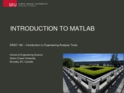 ENSC180 LECTURE 01 Intro to Matlab Dr Ivan Bajic