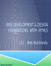 L11 - Web Multimedia