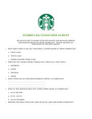 STARBUCKS CONSUMER SURVEY.docx