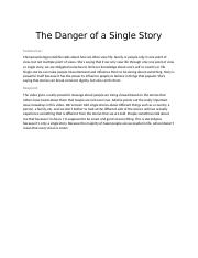 The Danger of a Single Story.docx