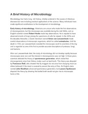 A Brief History of Microbiology
