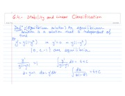 6.4.- Stability and Linear Classification