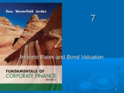 515 - Interest Rates and Bond Valuation