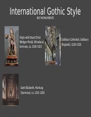 4.25 - International Gothic Style