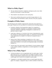 What is a Policy Paper