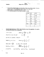 physics 133  Exam2 spring04