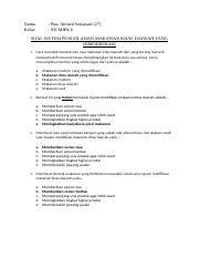 Soal Prakarya Modifikasi Makanan Khas Daerah Docx Nama Kelas Pino Ahmed Setiawan 27 Xii Mipa 6 Soal Sistem Pengolahan Makanan Khas Daerah Yang Course Hero
