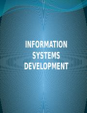 Lecture Eight- Information Systems Development.pptx