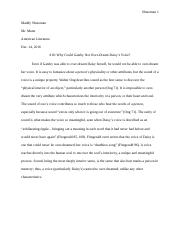 Literature Exam- 1 Paragraph