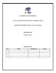 UVW 312_PROPOSAL REPORT TEMPLATE.doc