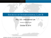 POL 122 (Lecture 2) - Sources of International Law 2