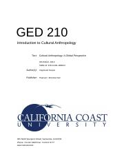 GED 210 - Cultural Anthropology (Final Exam).DOCX