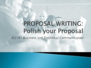 Lecture 6-3 - Polishing Your Proposal