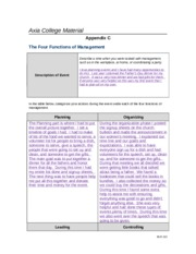 BUS 210 Week 4-Appendix C - Four Functions of Management