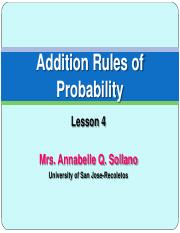 Probability: Addition Rules