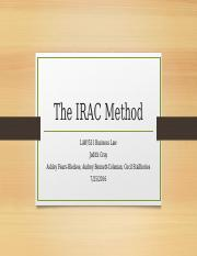The IRAC Method