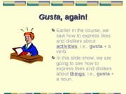 Cap1-Gustar with nouns
