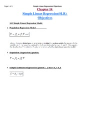 Simple Linear Regression notes