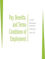 Pay Benefits and Terms HRM 510 -Jessica Smith - 2.pptx