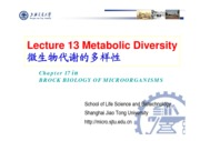 17-1 Lecture 13-1 Metabolic diversity