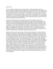 Political theory essay