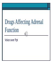 212 Drugs affecting Adrenal Function VOP (1)