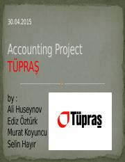 Accounting Project TUPRAS