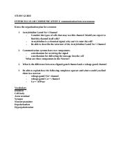 Study Guide Intercellular Coomunication I.docx