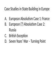 Case Studies In European State Formation
