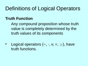 6.2 Truth Functions