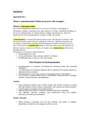 Business Communication - ENG301 Fall 2006 Assignment 01 Solution.doc