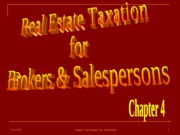 4 - Real Estate Taxation