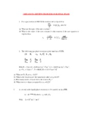 ChEE 420-Review Problems-FINAL -2011