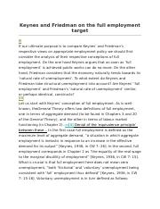 Keynes and Friedman on the full employment target.docx