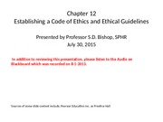 Chapter 12, PPT 7-30-15