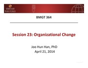 23. Organizational Change by Han, J