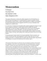 crisis communication memo Hancerli, suleyman, negotiation, communication, and decision strategies used by hostage/crisis negotiators doctor of philosophy (information science), may 2008, 250.