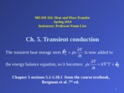 Ch. 5 Transient conduction