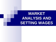 Market Analysis and Setting Wages