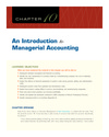 Chapter 10 An Introduction to Managerial Accounting